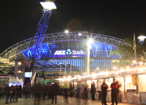 ANZ Stadium turned blue for the Origin