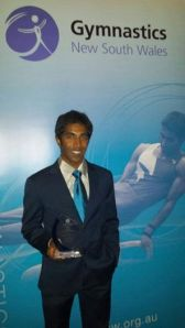 Prashanth with his award