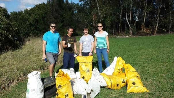Accor Sydney Olympic Park Hotels staff at Business Clean Up event