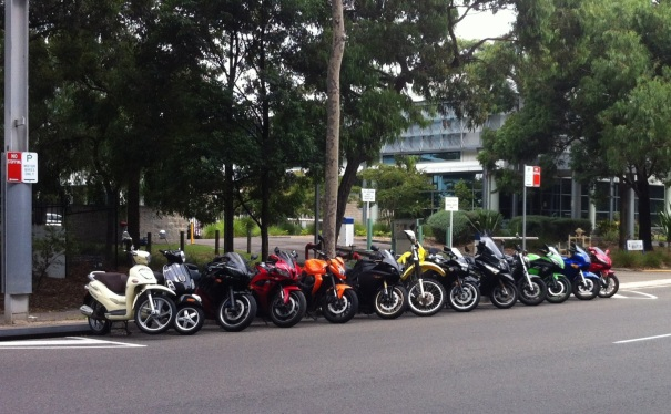 Motorbikes on herb elliott avenue