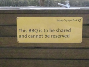 BBQ sharing signs