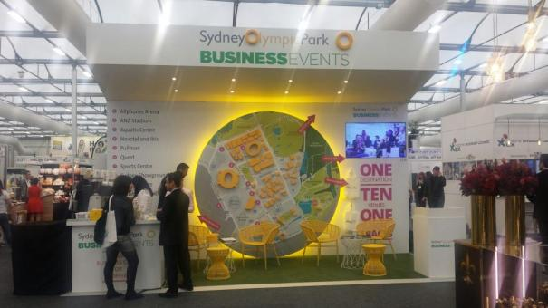 Business events stand