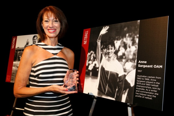 Anne Sargeant OAM with her Hall of Legends trophy