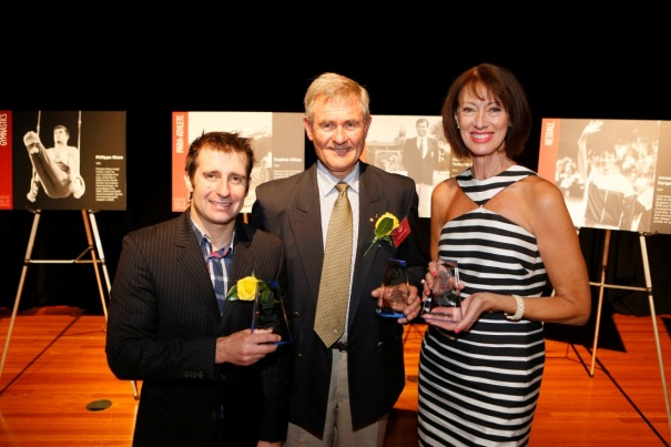 2014 Hall of Champions Inductee Phillipe Rizzo, 2014 Hall of Champions Inductee Hugh Treharne OAM and Anne Sargeant OAM