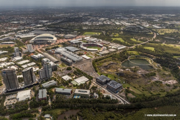 Aerial image of Sydney Olympic Park