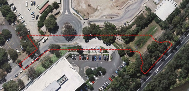 Sitemap of works for new street between Parkview Drive and Bennelong Parkway