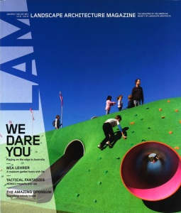 Cover of Landscape Architecture Magazine