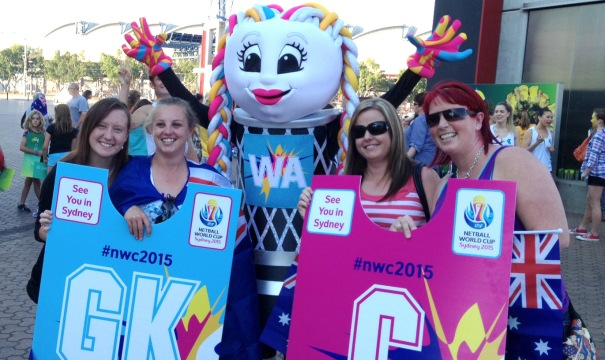 Fans of Netball World Cup