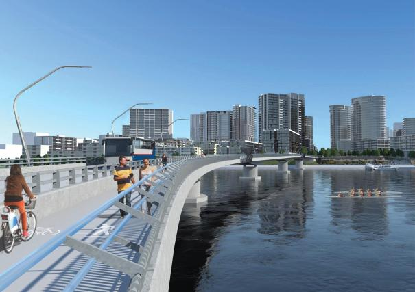 Artist impression of Homebush Bay Bridge
