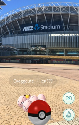 Pokemon outside ANZ Stadium