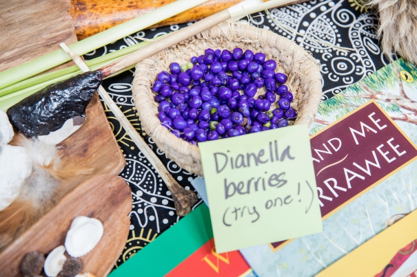 bowl of dianella berries to try