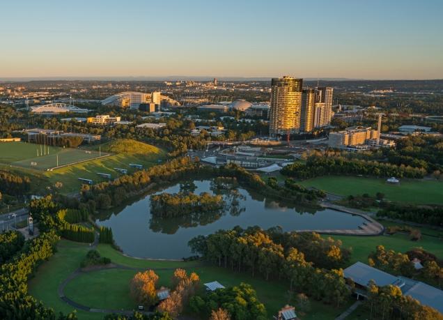 Drone Image Of Sydney Olympic Park Courtesy Ethan Rohloff